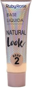 Base líquida natural look bege Cor 2 Ruby Rose