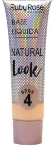 Base líquida natural look bege Cor 4 Ruby Rose