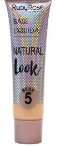 Base líquida natural look bege Cor 5 Ruby Rose