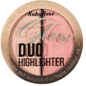Iluminador Glow Duo Highlighter 1 Pérola Ruby Rose