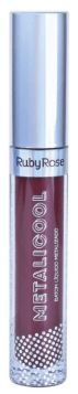 Batom liquido Metalicool Burgundy Ruby Rose