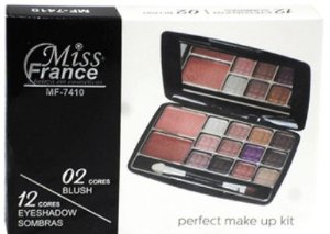 Kit 12 Sombras e 02 Blushes Miss France