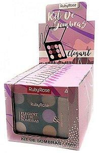 Paleta de Sombras e Iluminador Elegant Ruby Rose Atacado Kit com 12 peças
