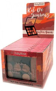 Paleta de Sombras e Iluminador Golden Queen Ruby Rose Atacado