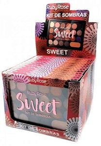 Paleta de Sombras e Primer Sweet Ruby Rose Atacado Kit com 12 peças