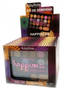 Paleta de Sombras e Primer Happiness Ruby Rose Atacado