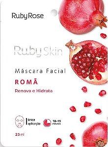 Máscara Facial De Tecido Romã Skin Ruby Rose Atacado