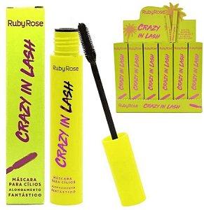 Rimel Máscara para Cílios Alongadora Crazy in Lash Ruby Rose Atacado Kit com 03 peças