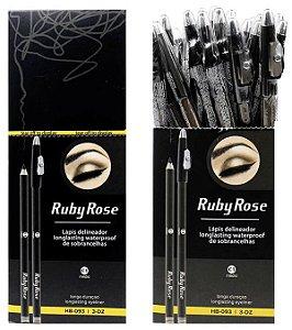 Lápis Para Sobrancelha médio Ruby Rose Atacado Kit com 06 peças