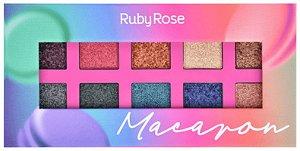 Paleta De Sombras Essência Macaron Ruby Rose