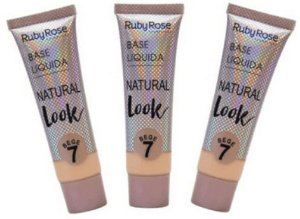 Base Natural Look Bege Cor 7 Ruby Rose Kit 03 unid