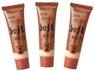 Base Soft Matte Nude Cor 02 Ruby Rose Kit 03 unid