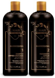 G Hair Kit Marroquina 2 Passos Shampoo e Tratamento