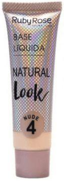 Base líquida cor 4 natural Look Nude Ruby Rose