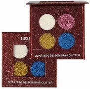 Paleta Quarteto de Sombras Matte Glitter Ludurana
