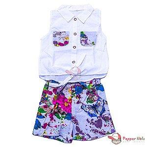 Conjunto Blusa Short Floral