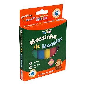 MASSA DE MODELAR CX COM 6 CORES