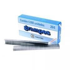 GRAMPOS GALVANIZADOS 26/6 CX COM 5000 UN
