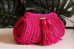 Bolsa de Crochê de Cordão Acetinado