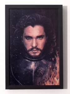 Jon Snow - Quadro Canvas Frame - Game of Thrones