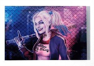 Harley Quinn (Arlequina) - Quadro Acrílico - Esquadrão Suicida