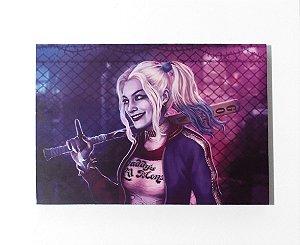 Harley Quinn (Arlequina) - Quadro MDF - Esquadrão Suicida