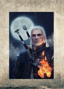 Geralt - Quadro MDF - The Witcher