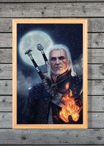 Geralt - Quadro Canvas Frame - The Witcher