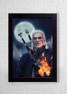 Geralt - Quadro - The Witcher