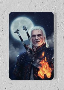 Geralt - Quadro Woodprint - The Witcher