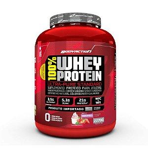 100% Whey Protein 2270g Morango