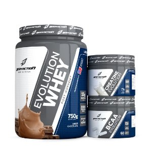 Kit Evolution - Whey / Creatina / BCAA