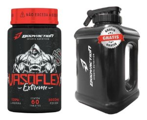 Kit Vasoflex Vasodilatador + Galão Gym Designed Brinde Bodyaction