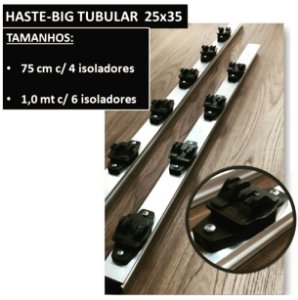 Haste tubolar 4 isoladores 25x35