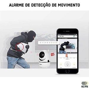Câmera motorizada IP wi-fi com detecção e rastreamento de movimento infravermelho e áudio