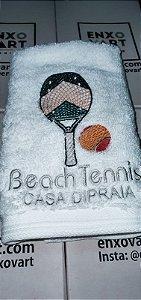 Toalha de Lavabo de Algodão Egípcio Personalizada Beach Tennis - Enxovart
