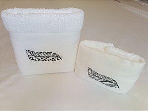 Jogo de toalha Bordado Bella Falconi  - Enxovart
