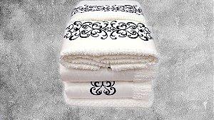 Jogo de toalha Bordado  Mizar - Enxovart