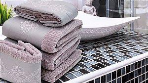 Jogo de toalha com aplique 400 Fios Egípcios Bordado Celine – Enxovart