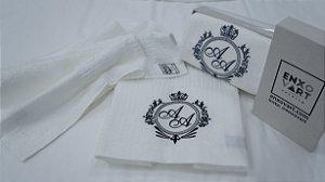 Personalização Jogo de toalha com aplique 400 Fios Egípcios Bordados – Enxovart