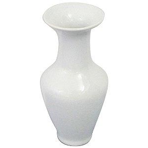 Mini Vaso Cerâmica Long Collar Branco 6X6X16CM