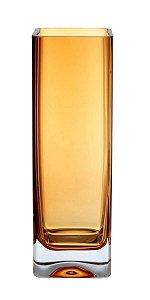 Vaso de Vidro Âmbar Alto 30X10,5X5CM