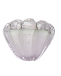Centrinho Cristal Murano Cinza