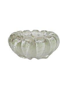 Centrinho de Cristal Murano Cinza 8x17cm