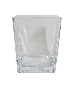 Vaso de Vidro Transparente 22x16x10cm