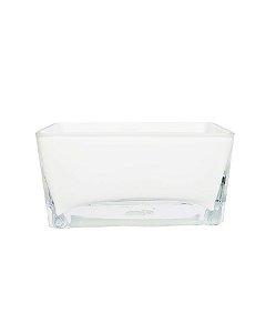 Vaso de Vidro Branco 10x20x10cm