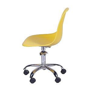 Cadeira de Polipropileno com Rodizio Cromado