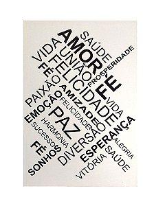 Tela Impressa Palavras 40x60cm