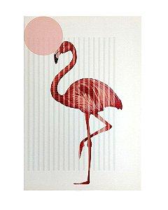 Tela Impressa Flamingo 40x60cm
