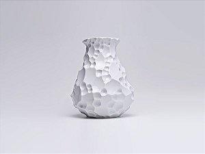 Vaso de Porcelana Krater Branco 33cm